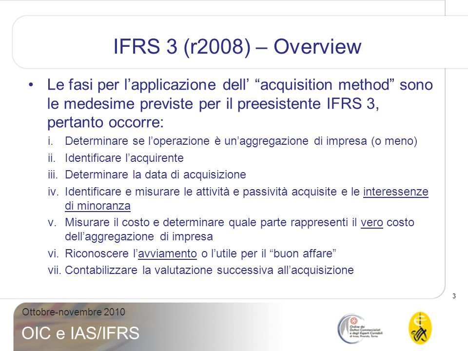 IFRS 3 (r2008) – Overview