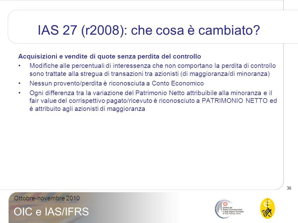 IAS 27 (r2008): che cosa è cambiato