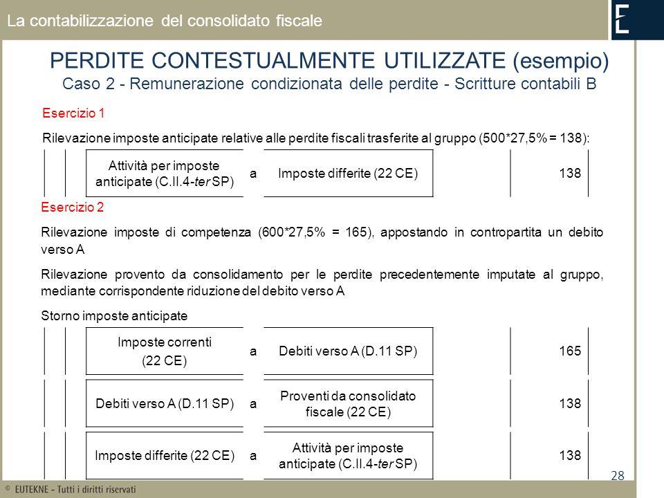 PERDITE CONTESTUALMENTE UTILIZZATE (esempio)