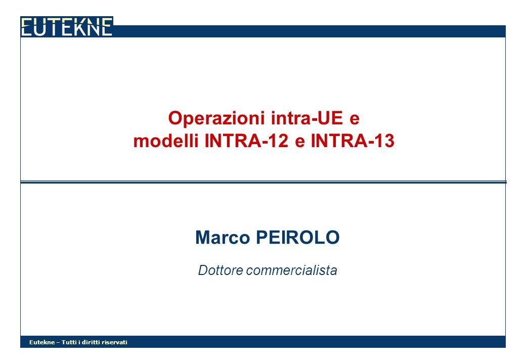 Operazioni intra-UE e modelli INTRA-12 e INTRA-13