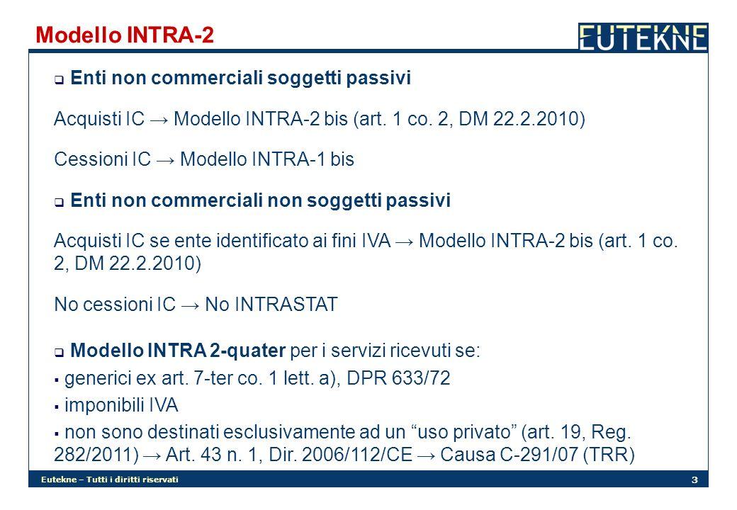 Modello INTRA-2 Enti non commerciali soggetti passivi
