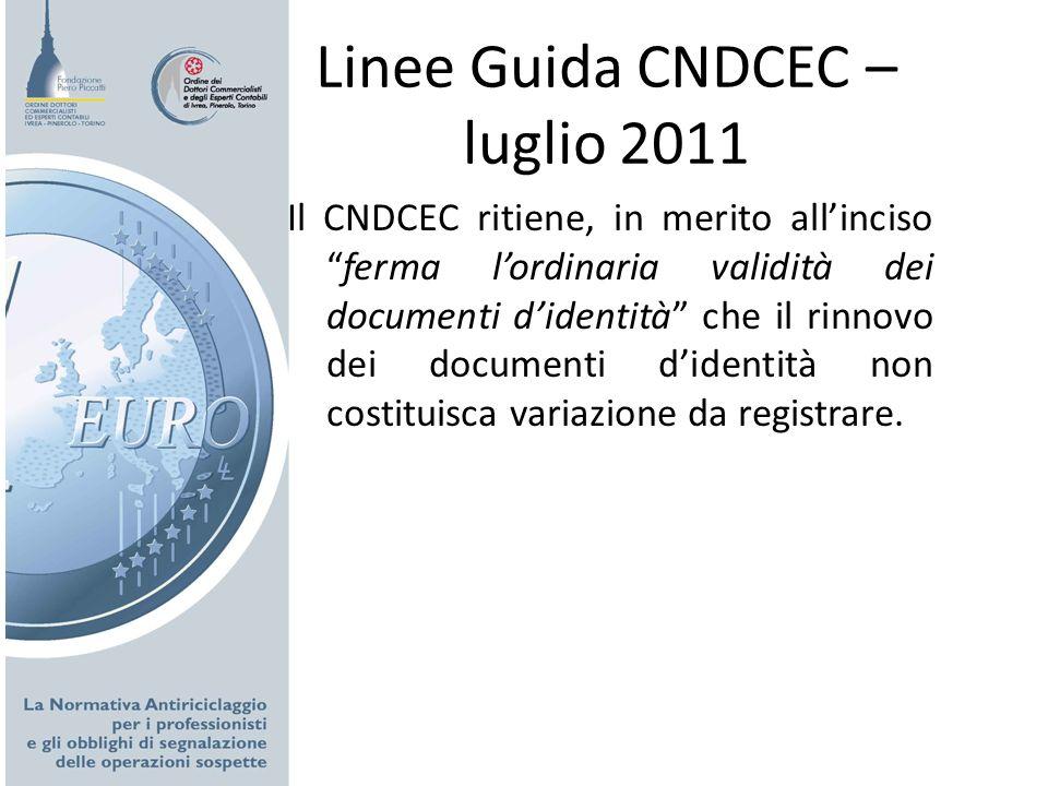Linee Guida CNDCEC – luglio 2011