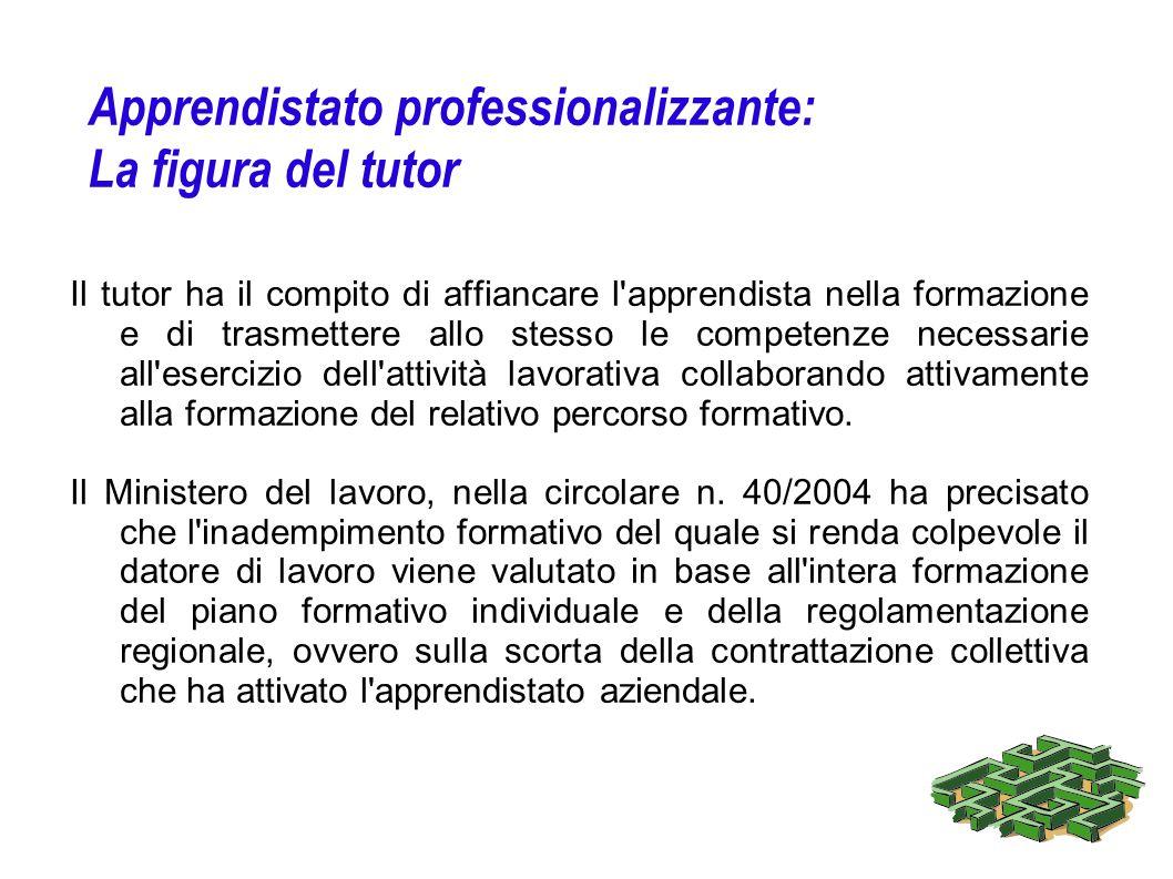 Apprendistato professionalizzante: La figura del tutor