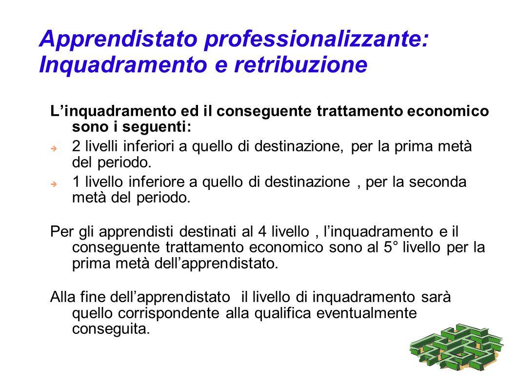 Apprendistato professionalizzante: Inquadramento e retribuzione