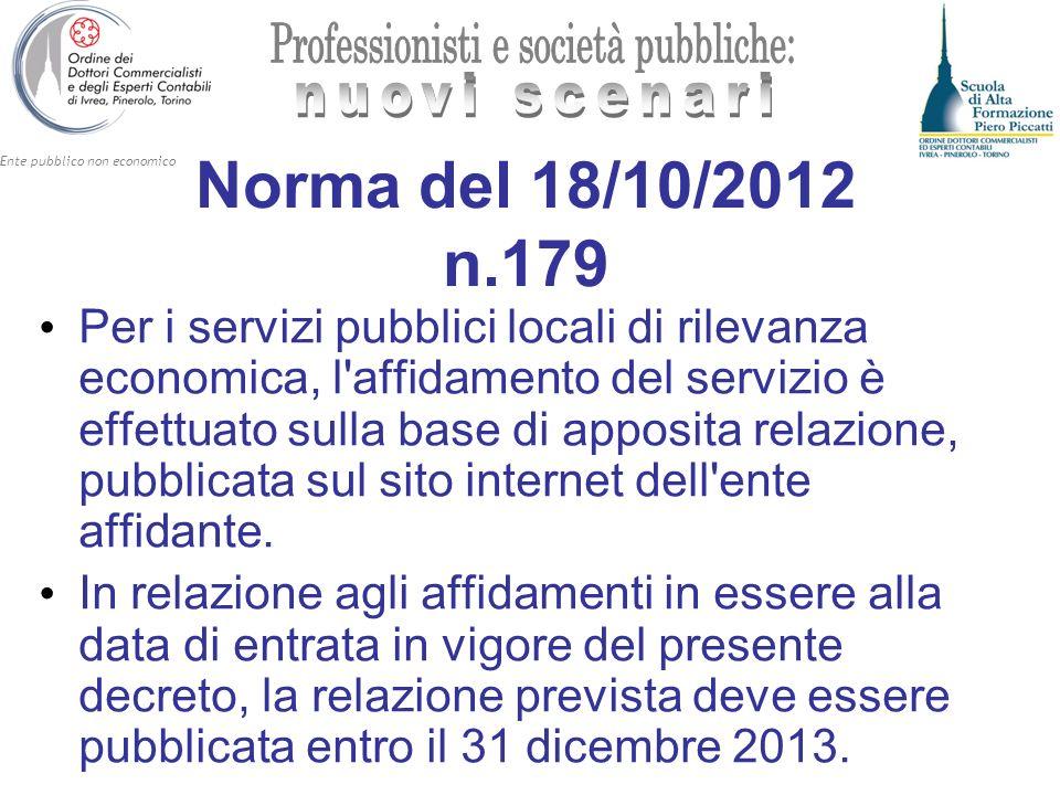Norma del 18/10/2012 n.179