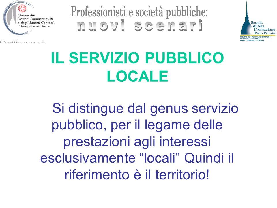 IL SERVIZIO PUBBLICO LOCALE