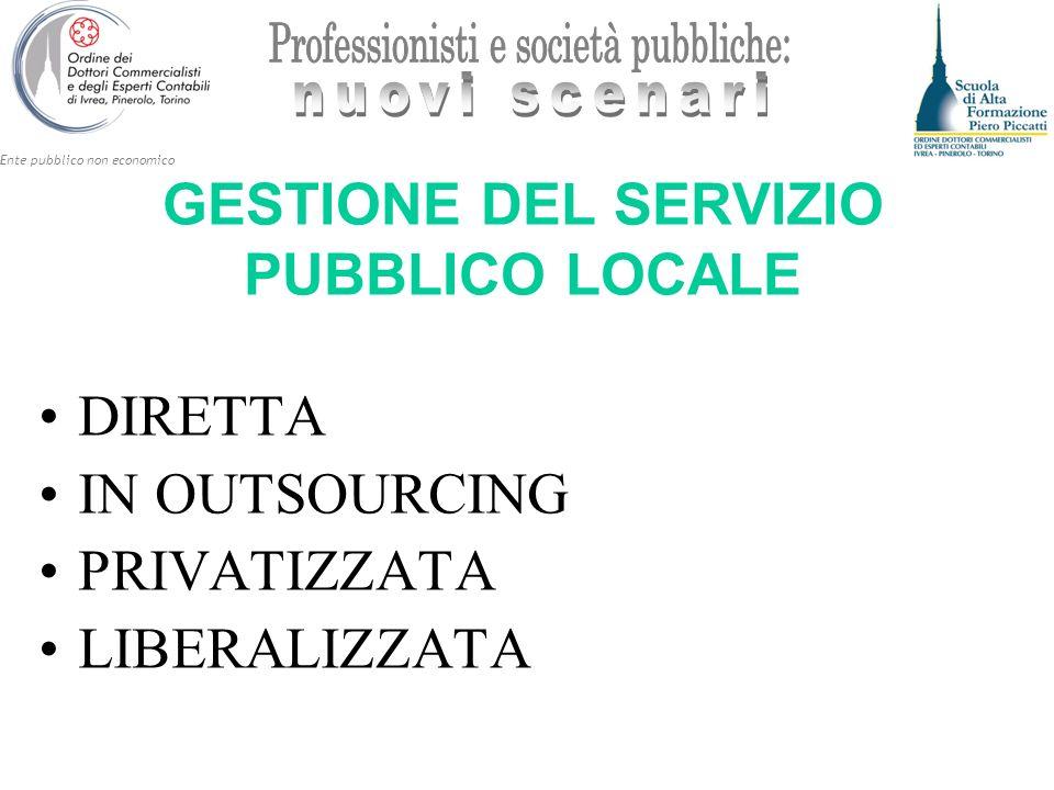 GESTIONE DEL SERVIZIO PUBBLICO LOCALE
