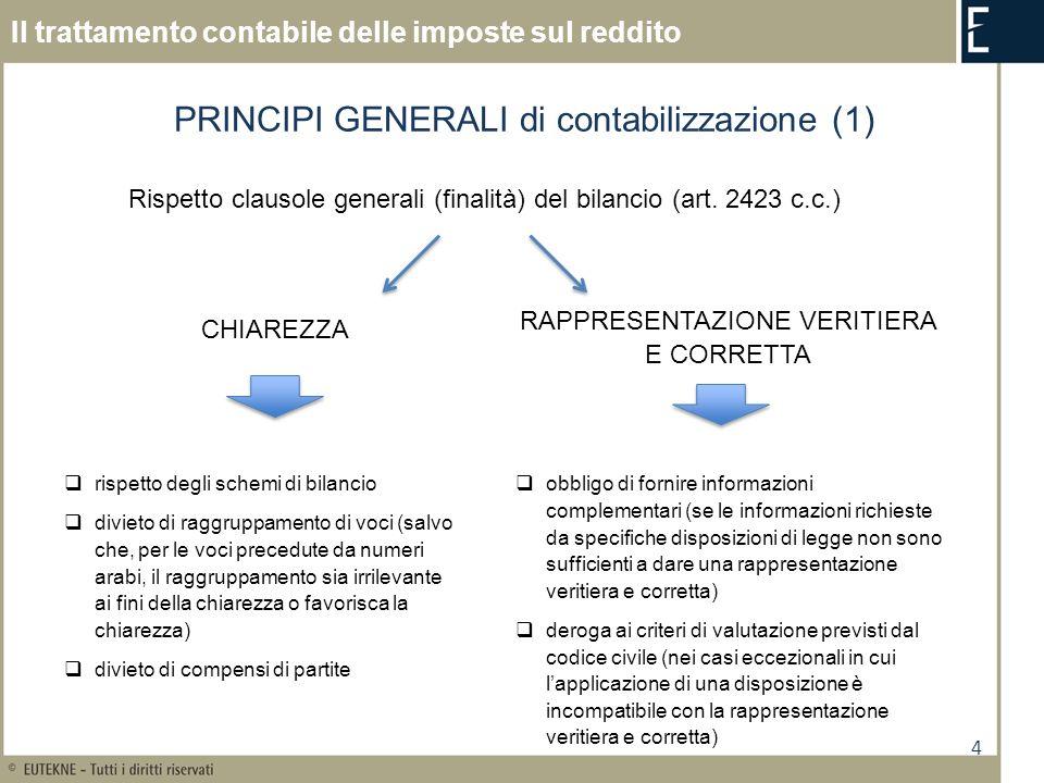 PRINCIPI GENERALI di contabilizzazione (1)