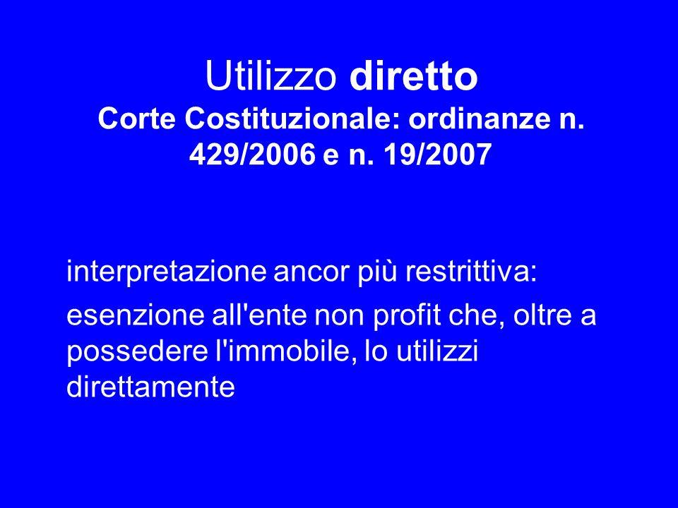 Utilizzo diretto Corte Costituzionale: ordinanze n. 429/2006 e n
