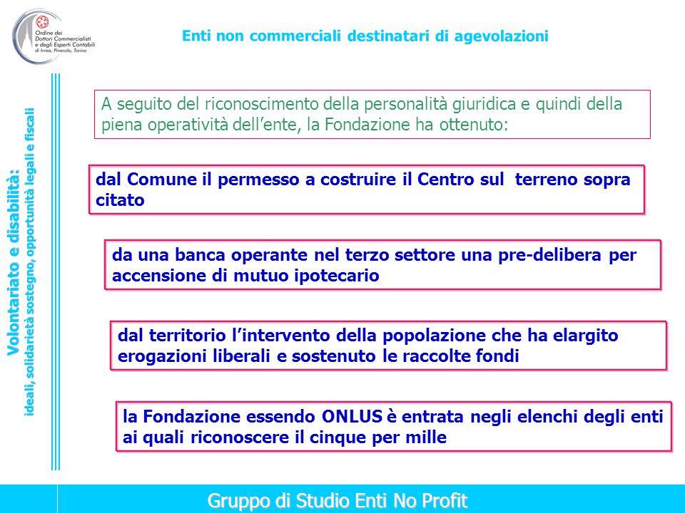 A seguito del riconoscimento della personalità giuridica e quindi della piena operatività dell'ente, la Fondazione ha ottenuto: