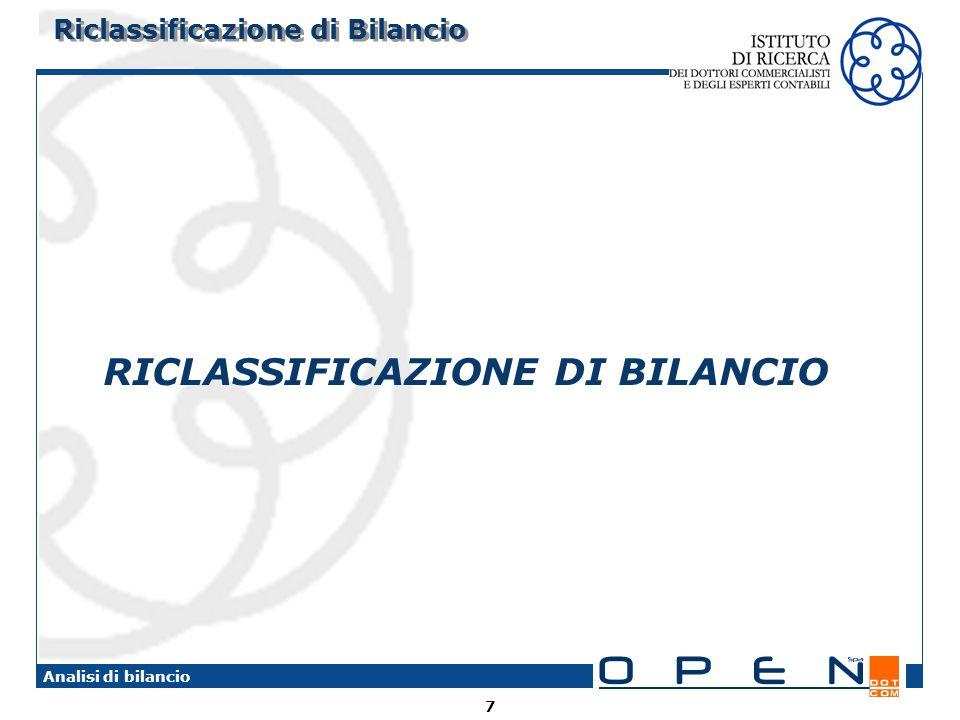 Riclassificazione di Bilancio