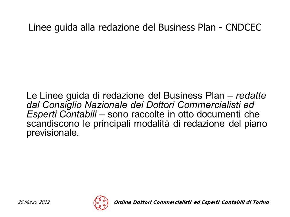 Linee guida alla redazione del Business Plan - CNDCEC