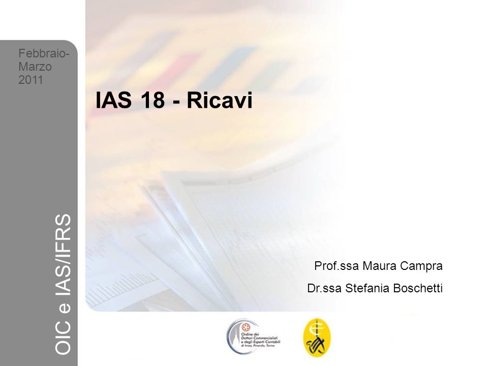 IAS 18 - Ricavi OIC e IAS/IFRS Febbraio- Marzo 2011