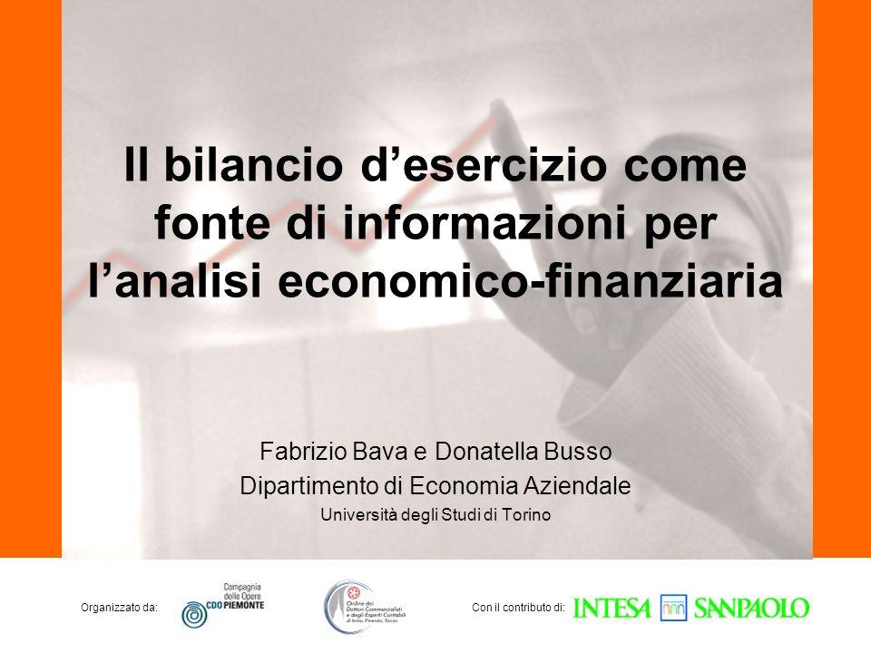 Il bilancio d'esercizio come fonte di informazioni per l'analisi economico-finanziaria