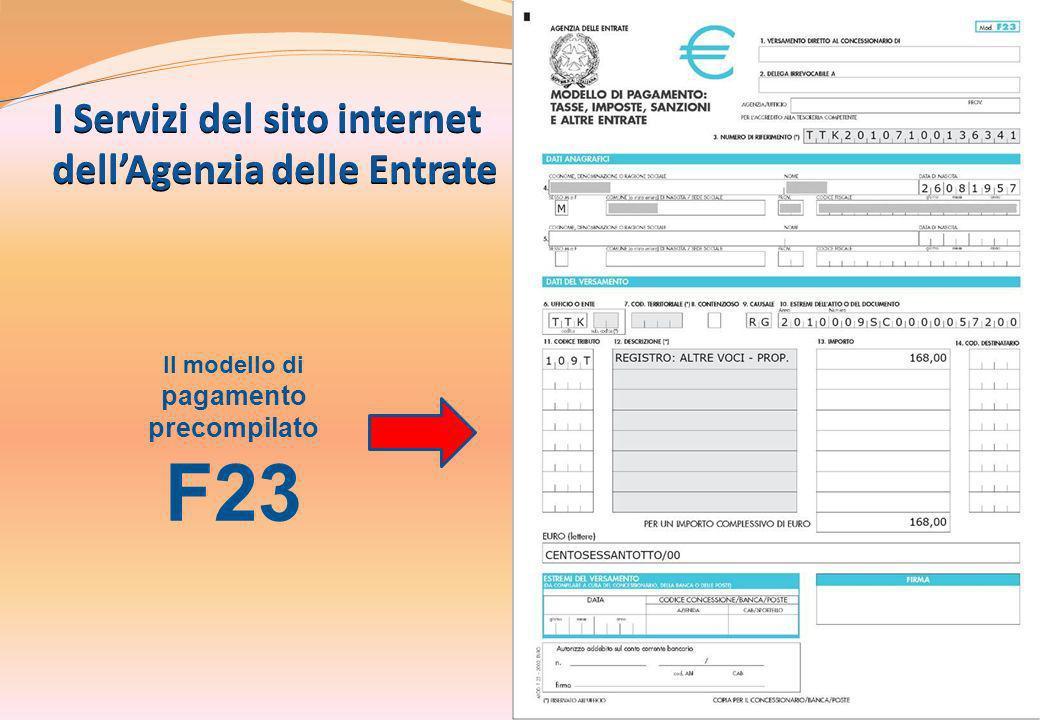 I Servizi del sito internet dell'Agenzia delle Entrate
