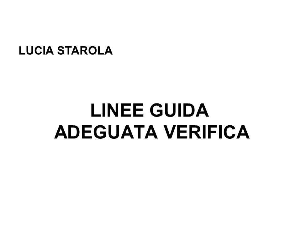LINEE GUIDA ADEGUATA VERIFICA