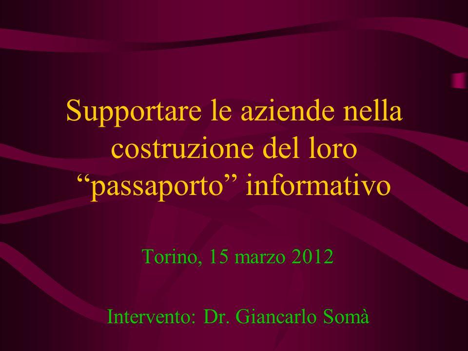 Torino, 15 marzo 2012 Intervento: Dr. Giancarlo Somà