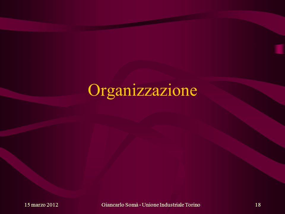 Giancarlo Somà - Unione Industriale Torino