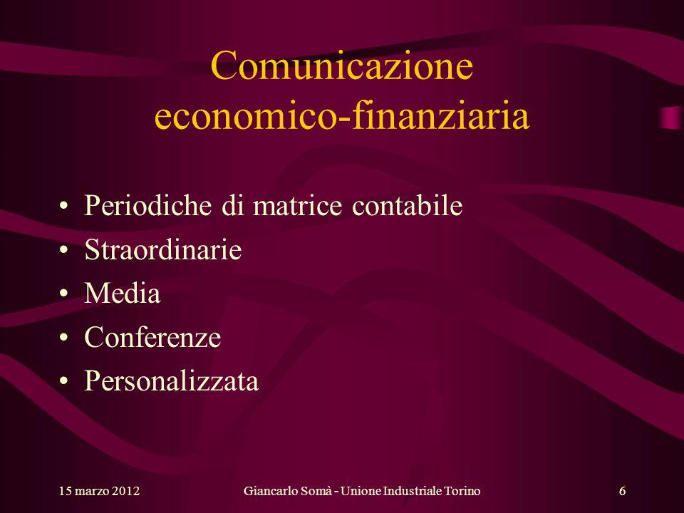 Comunicazione economico-finanziaria