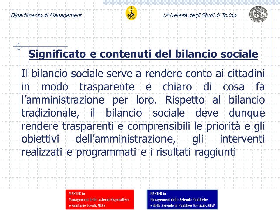 Significato e contenuti del bilancio sociale