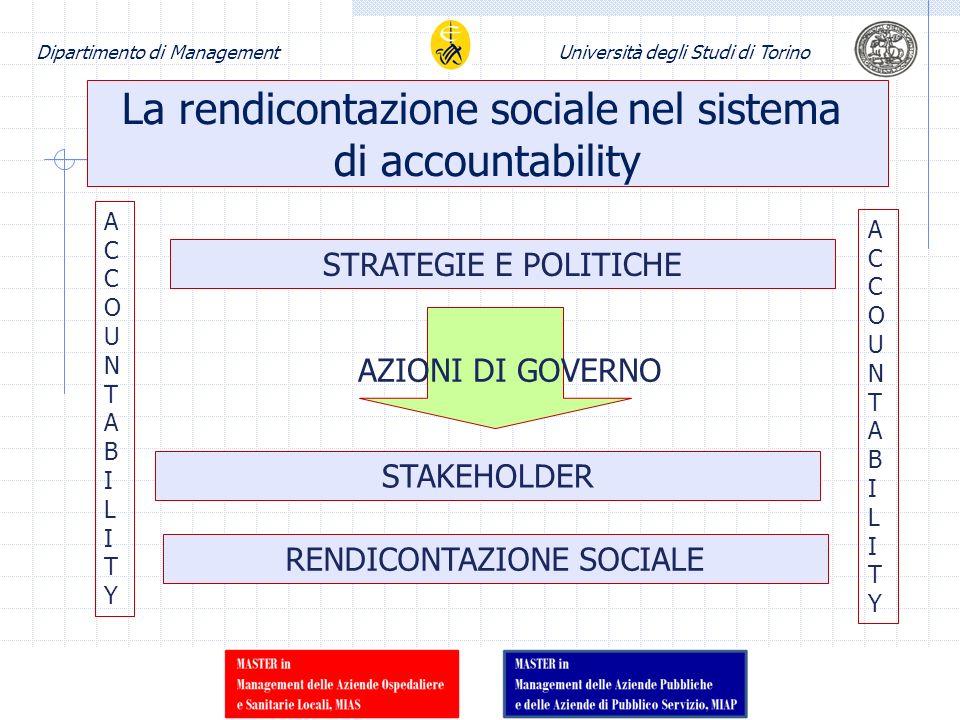 La rendicontazione sociale nel sistema di accountability