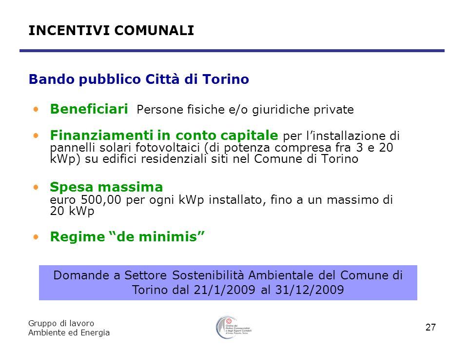 Bando pubblico Città di Torino