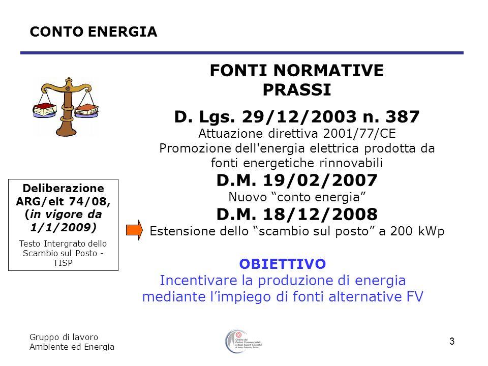 Deliberazione ARG/elt 74/08, (in vigore da 1/1/2009)