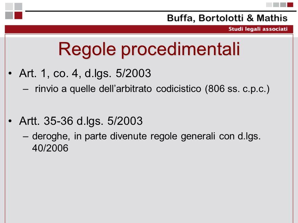 Regole procedimentali