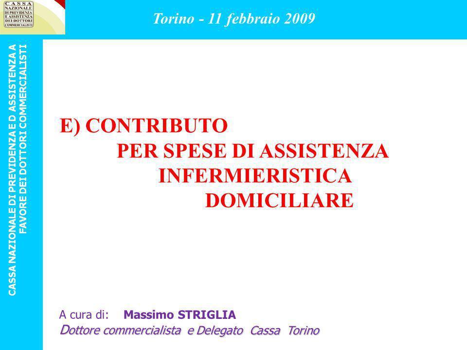 PER SPESE DI ASSISTENZA INFERMIERISTICA DOMICILIARE