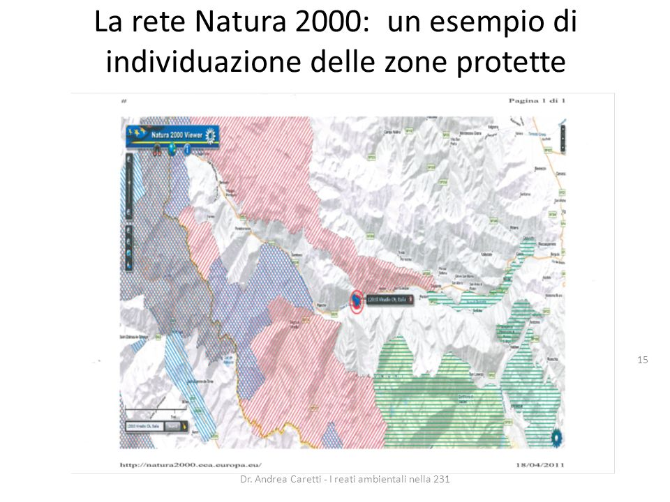 La rete Natura 2000: un esempio di individuazione delle zone protette