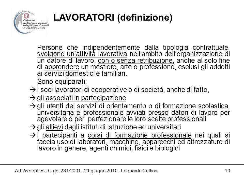 LAVORATORI (definizione)