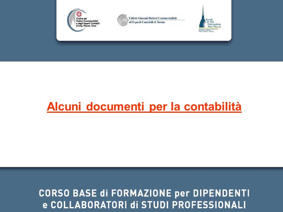 Alcuni documenti per la contabilità
