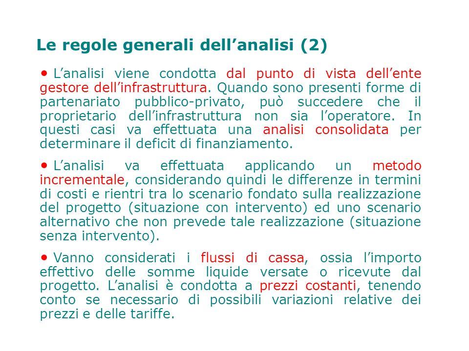 Le regole generali dell'analisi (2)