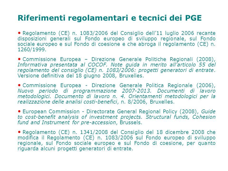 Riferimenti regolamentari e tecnici dei PGE