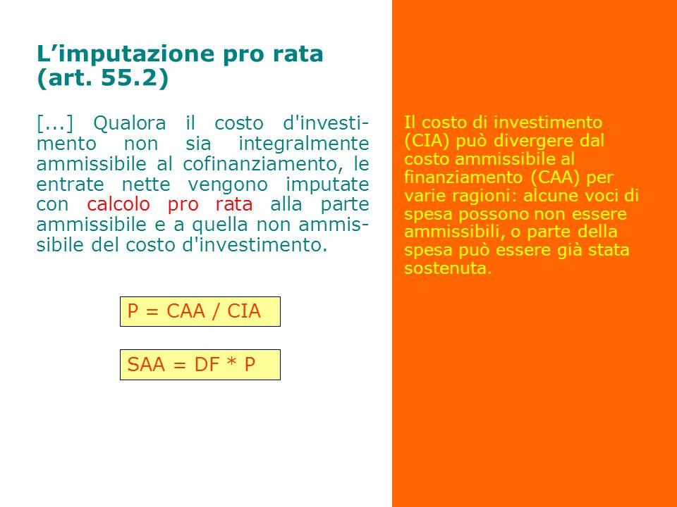 L'imputazione pro rata (art. 55.2)