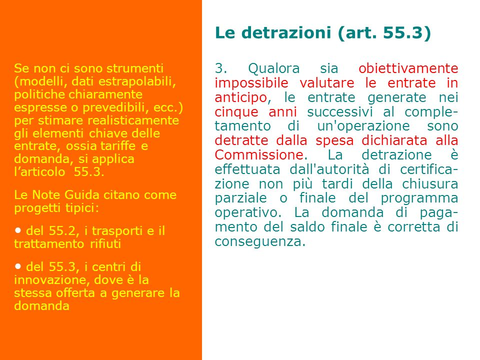 Le detrazioni (art. 55.3)