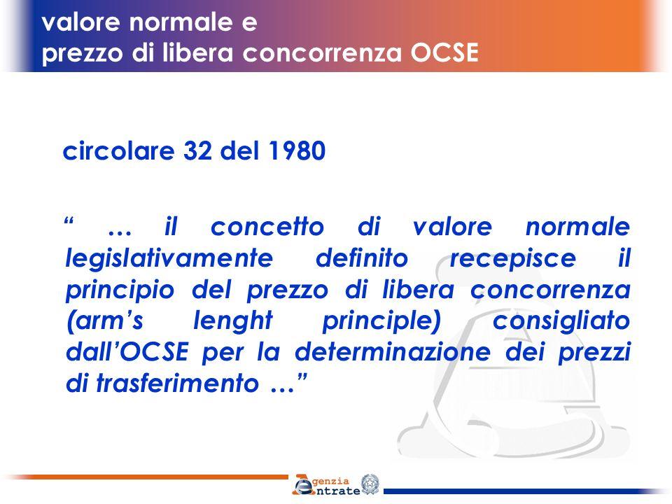 valore normale e prezzo di libera concorrenza OCSE