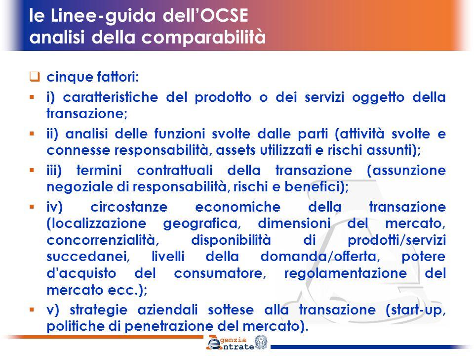 le Linee-guida dell'OCSE analisi della comparabilità