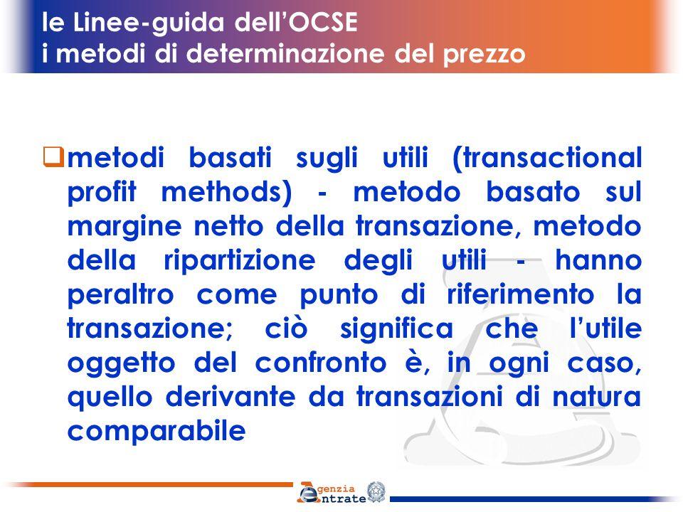 le Linee-guida dell'OCSE i metodi di determinazione del prezzo