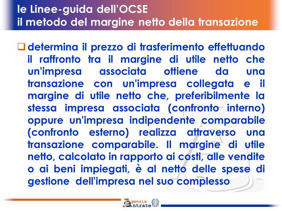 le Linee-guida dell'OCSE il metodo del margine netto della transazione
