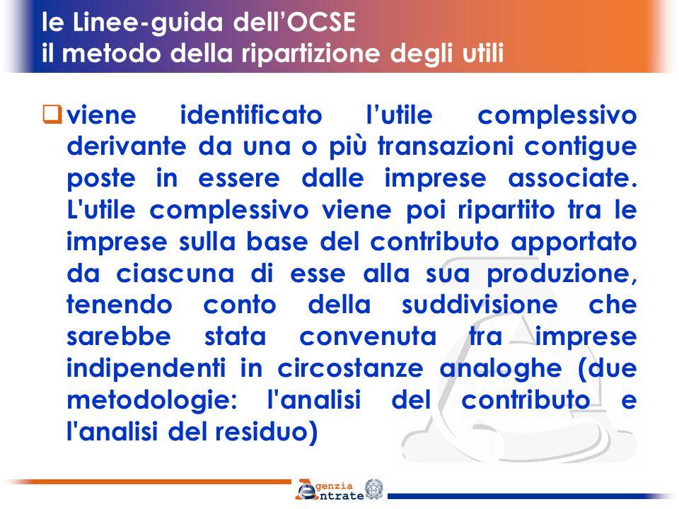 le Linee-guida dell'OCSE il metodo della ripartizione degli utili