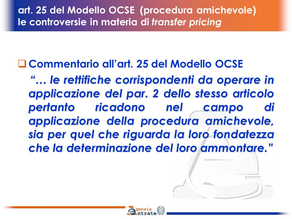 Commentario all'art. 25 del Modello OCSE
