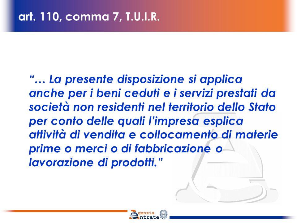 art. 110, comma 7, T.U.I.R.