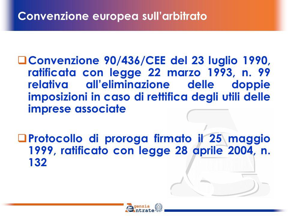 Convenzione europea sull'arbitrato