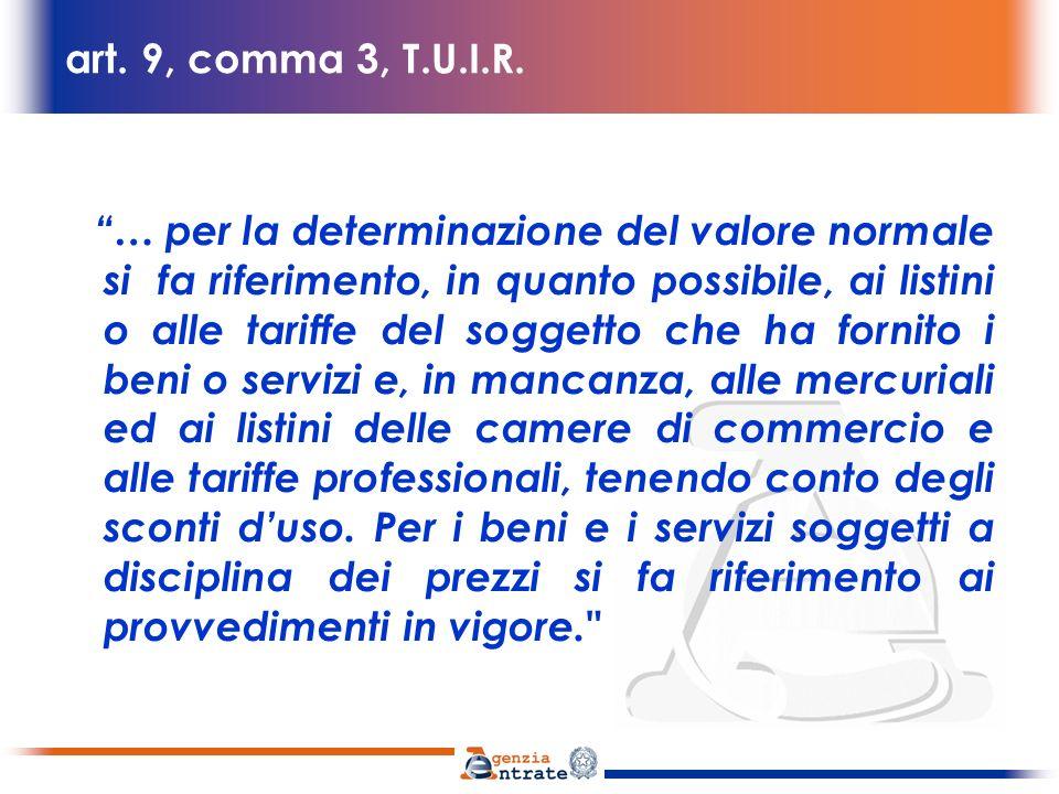 art. 9, comma 3, T.U.I.R.