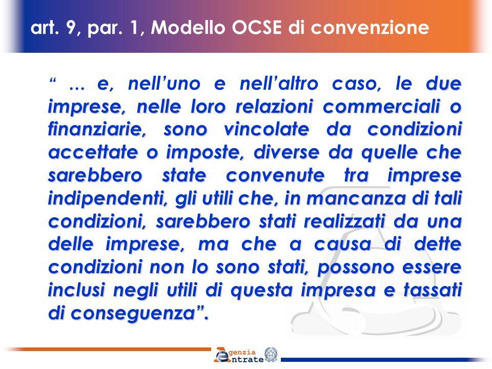 art. 9, par. 1, Modello OCSE di convenzione