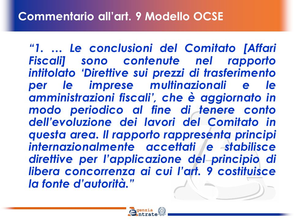 Commentario all'art. 9 Modello OCSE
