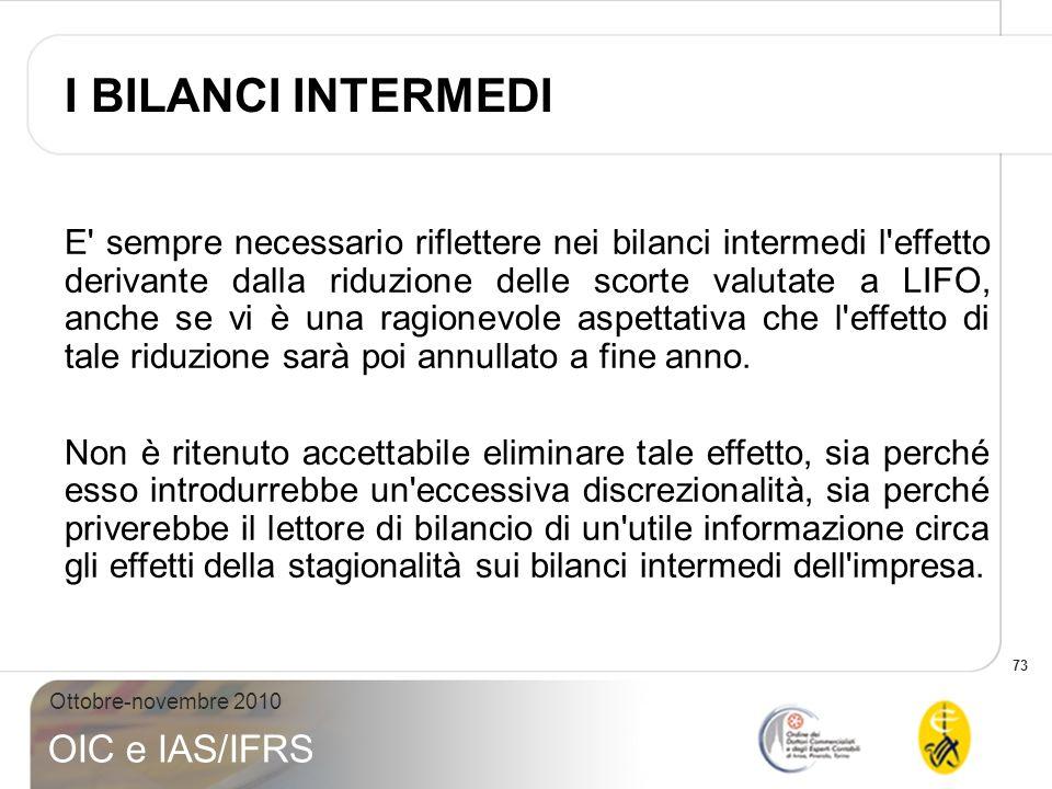 I BILANCI INTERMEDI