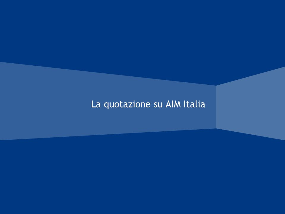 La quotazione su AIM Italia