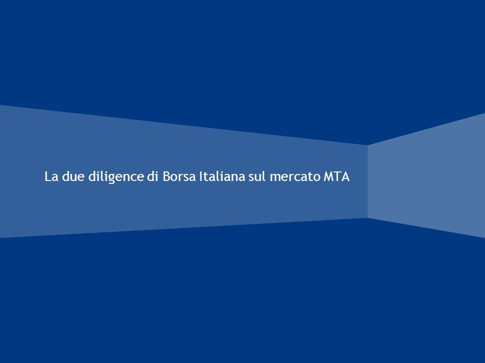 La due diligence di Borsa Italiana sul mercato MTA